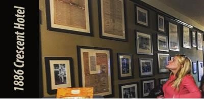 1886 Crescent Hotel Archive Wall