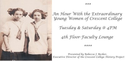 An Hour With the Extraordinary Young Women of Crescent College- Sign Up Required